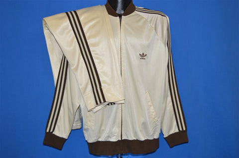 80s Adidas Cream Track Suit Extra Large