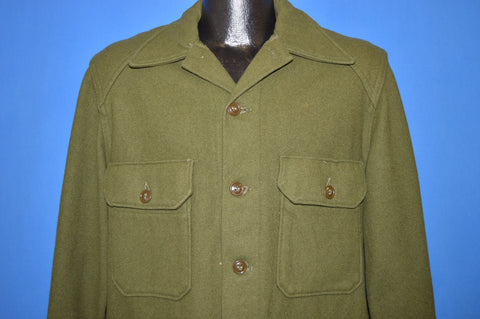 50s US Military Tapered Wool Jacket Shirt Medium