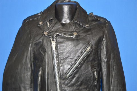 60s G & AK Leather Motorcycle Jacket Size 38