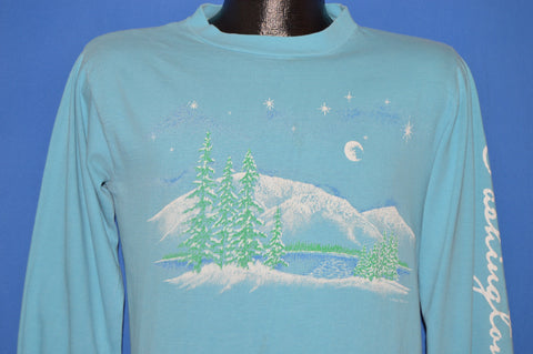 80s Washington Winter Landscape Long Sleeve t-shirt Medium