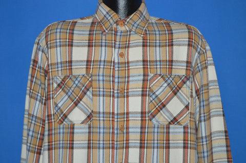 70s Big Mac JC Penny Plaid Flannel Work shirt Large