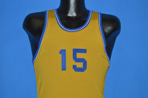 60s Wilson #15 Basketball Jersey t-shirt Small