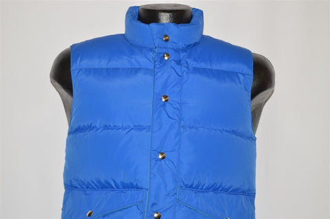 80s Sports B Blue Green Down Puffy Ski Vest