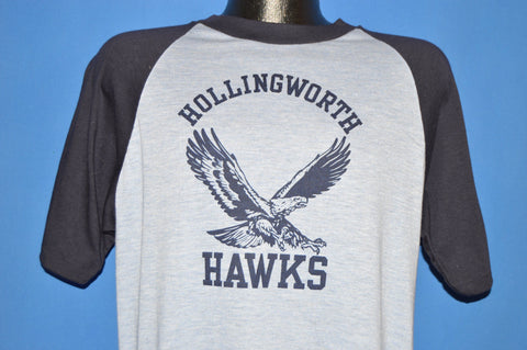 80s Hollingworth Hawks Rayon Jersey t-shirt Large