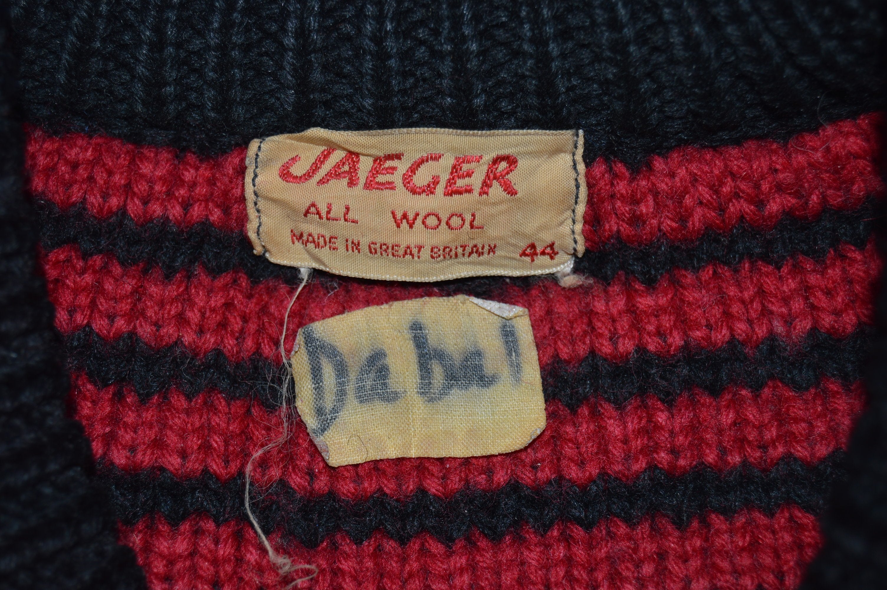 40s Jaeger All Wool Knit Raglan Sweater Large The Captains Vintage