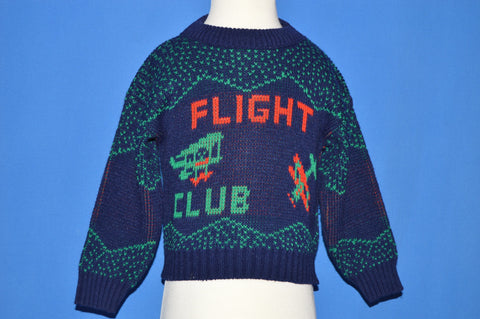 80s Flight Club Biplane Knit Sweater Toddler 2T