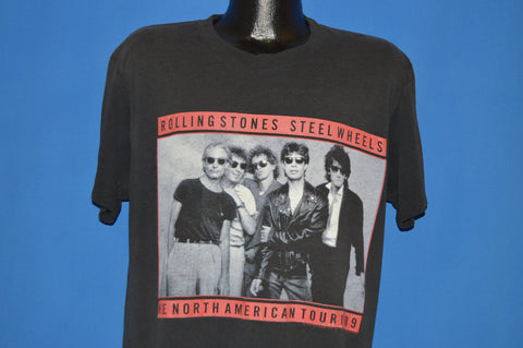 80s Rolling Stones Steel Wheels 1989 Tour t-shirt Large