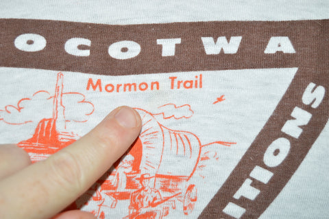 80s SOCOTWA Travel School Mormon Trail Utah t-shirt Small