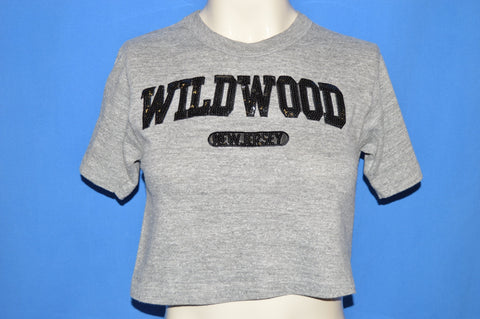 80s Wildwood New Jersey Rayon Crop Top t-shirt Small