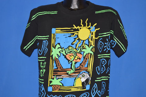 90s Jimmy Buffet All Over Print Surfing Frog t-shirt Large