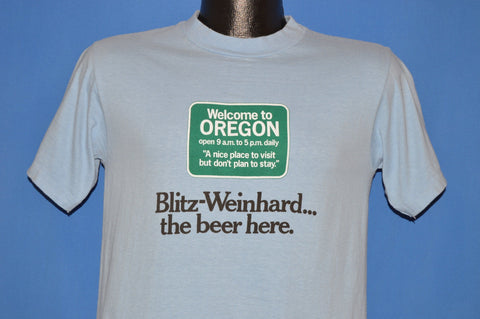 70s Welcome to Oregon Funny Blitz-Weinhard Beer t-shirt Small