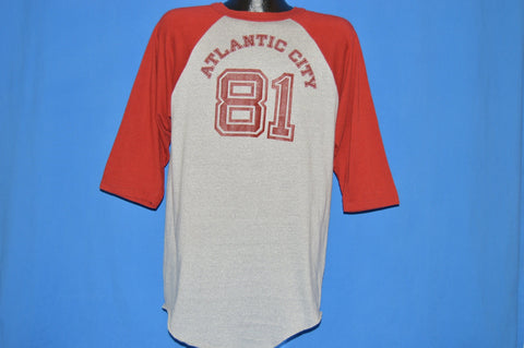 80s Atlantic City New Jersey 1981 Raglan t-shirt Large