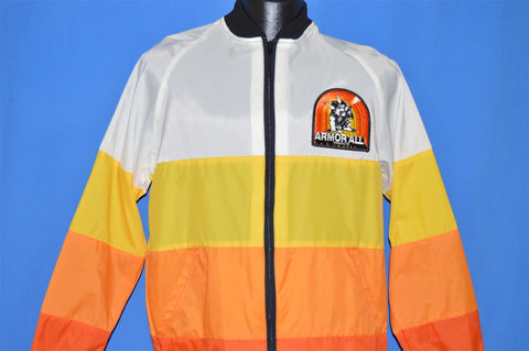 70s Armor All Racing Stripe Windbreaker Medium