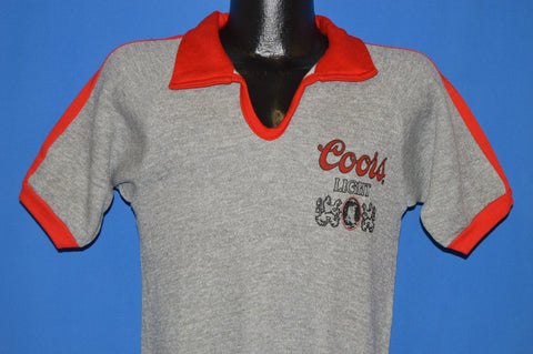 70s Coors Light Beer Deadstock Short Sleeve Sweatshirt Small