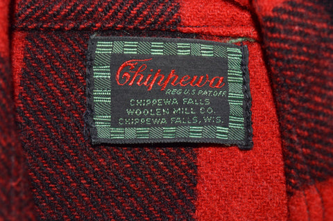 40s Chippewa Buffalo Plaid Wool Hunting Jacket Medium