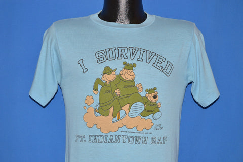 80s Beetle Bailey I Survived Ft Indiantown t-shirt Small