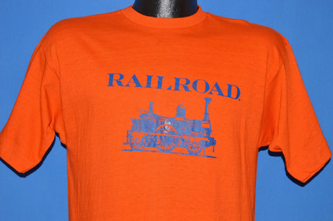 70s Railroad Steam Engine Champion Blue Bar t-shirt Medium