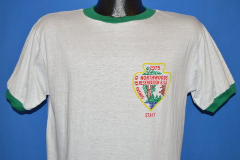70s Boy Scout Chief Okemos Northwoods BSA Staff t-shirt Large