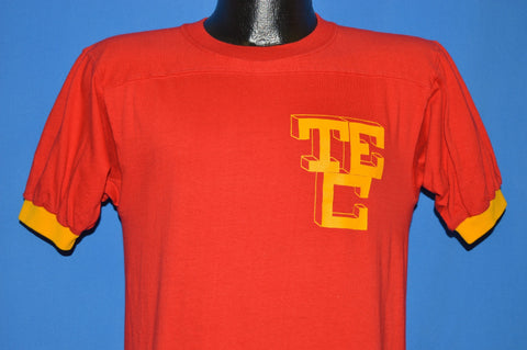 70s TEC #3 Jersey Ringer Red Yellow t-shirt Small