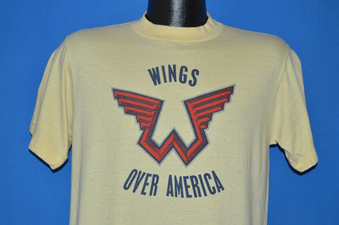 70s Wings 1976 Wings Over America Album t-shirt Medium