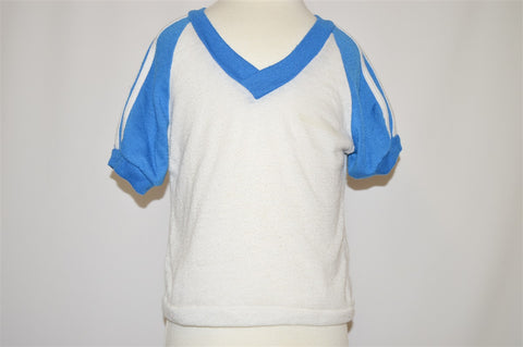 80s Blue and White t-shirt and Shorts Set Toddler 3T