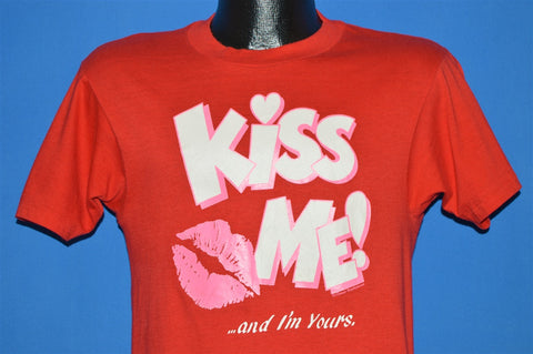 80s Kiss Me and I'm Yours Valentines Day t-shirt Small