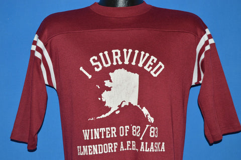80s I Survived Winter of 82/83 Elmendorf AFB Alaska t-shirt Medium