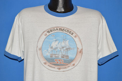 80s Broadsides SSI Naval Video Game t-shirt Large