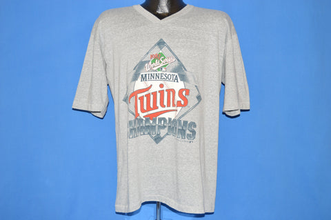 80s Minnesota Twins World Series 1987 Champs t-shirt Large