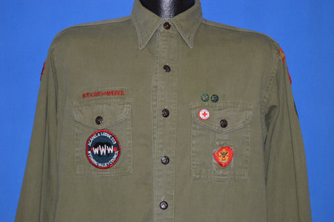 40s Boy Scouts Change Button Uniform shirt Large