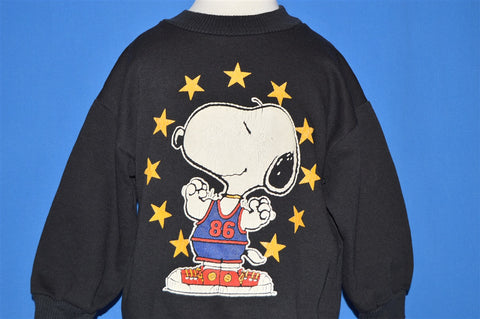 80s Snoopy Peanuts Basketball Toddler Sweatshirt 4T