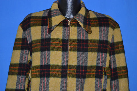 40s Buck Skein Joe Plaid Wool Hunting Coat Large