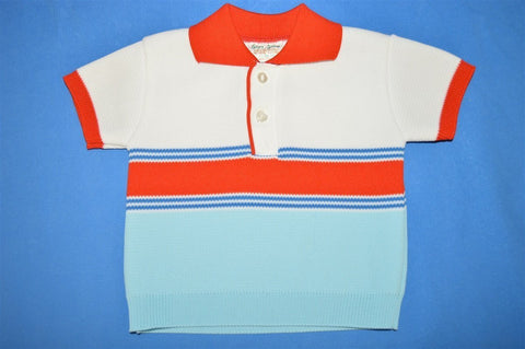 60s Striped Baby Polo Shirt 12-18 Months