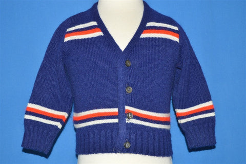 70s Striped Baby Cardigan 18-24 Months