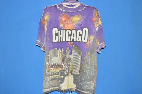 90s Chicago City Skyline All Over Print t-shirt Extra Large