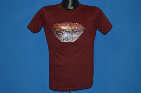 70s Super Dad Glitter Iron On t-shirt Small