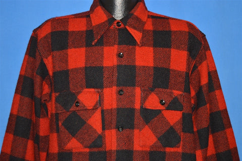 40s Big Yank Buffalo Check Button Front Shirt Large