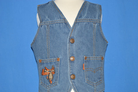 70s Levi's Orange Tab Toddler Denim Vest 3T