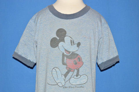 80s Mickey Mouse Ringer Distressed t-shirt Youth Small