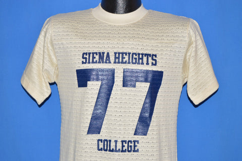 70s Siena Heights College 1977 Mesh t-shirt Small