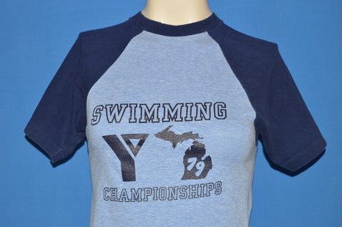 70s Michigan YMCA Swimming t-shirt Youth Large