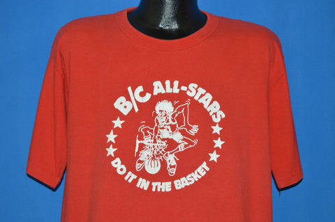 80s B/C Basketball Camp All-Stars Slam Dunk t-shirt Extra Large