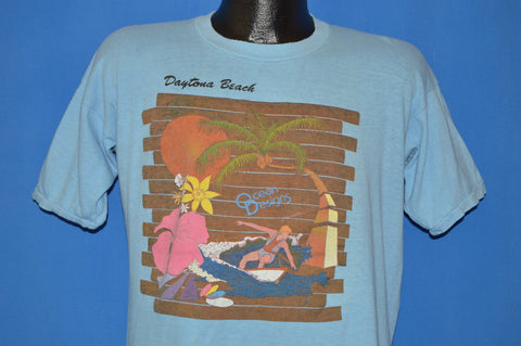 80s Daytona Beach Surfing Sunset t-shirt Large