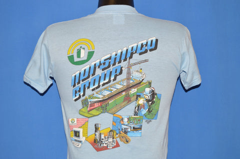 80s Norshipco Ship Building Norfolk Navy t-shirt Small