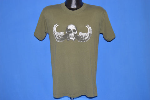 90s Airborne Skull Angel Jump Wings t-shirt Medium