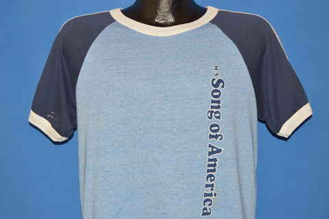 80s M/S Song Of America Cruise Liner Heathered Jersey t-shirt Large