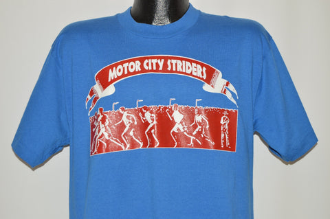 90s Motor City Striders Detroit Running Club t-shirt Large