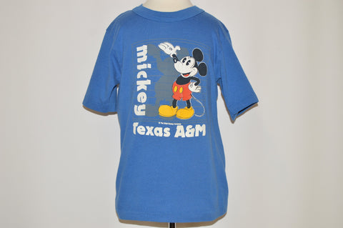 80s Texas A&M University Mickey t-shirt Youth Small