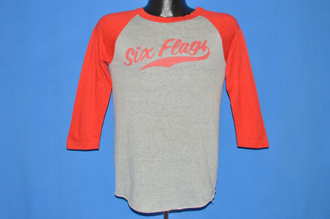 80s Six Flags Mary Flocked Letter Jersey Style t-shirt Small