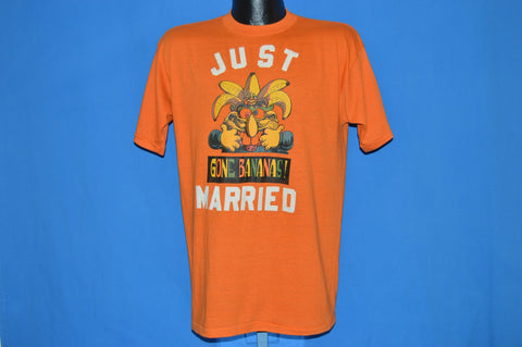 70s Just Married Gone Bananas Crazy t-shirt Large